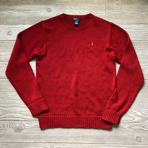 Polo Ralph Lauren Red Knit Sweater Youth XL X60
